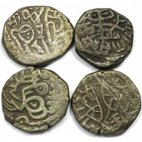 Lot von 4 Münzen 1193 - 1290 n. Chr avers