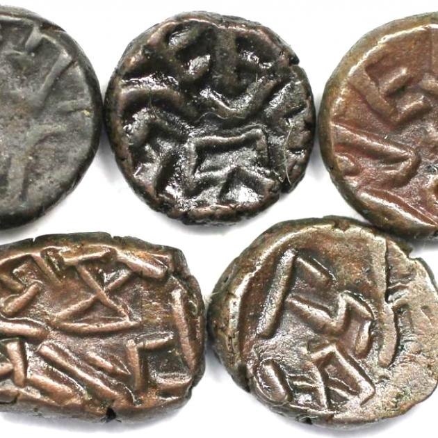 Lot von 5 Münzen 340 n. Chr revers