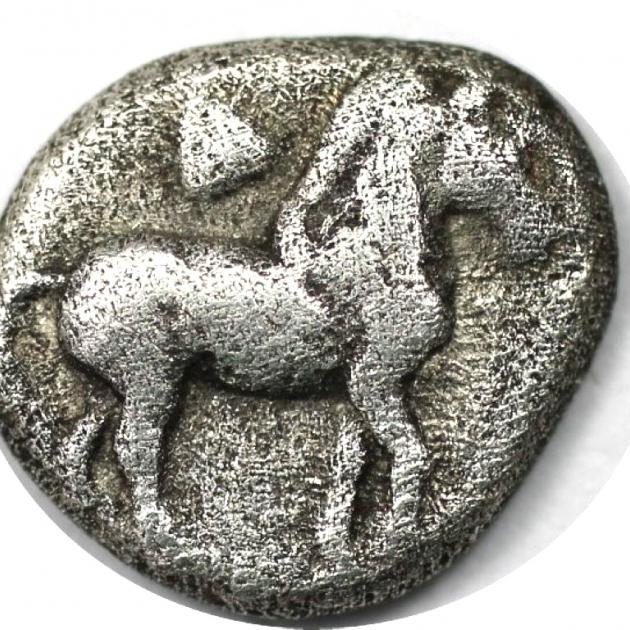 Diobol 498 - 454 v. Chr avers