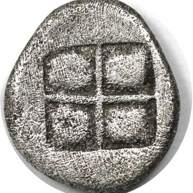 Diobol 498 - 454 v. Chr revers