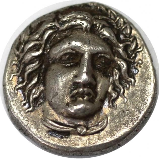 AR 1/4 Drachme 340-334 v. Chr avers