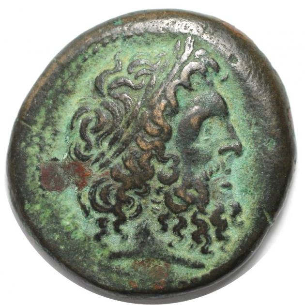 AE 27 285-246 v. Chr avers
